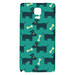 Happy Dogs Animals Pattern Galaxy Note 4 Back Case by BangZart