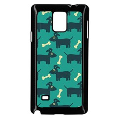 Happy Dogs Animals Pattern Samsung Galaxy Note 4 Case (black)