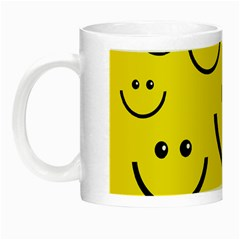 Digitally Created Yellow Happy Smile  Face Wallpaper Night Luminous Mugs by BangZart