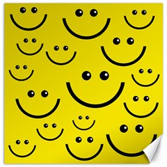 Digitally Created Yellow Happy Smile  Face Wallpaper Canvas 20  X 20   by BangZart