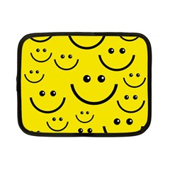 Digitally Created Yellow Happy Smile  Face Wallpaper Netbook Case (small)  by BangZart