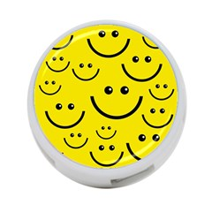 Digitally Created Yellow Happy Smile  Face Wallpaper 4 Port Usb Hub (two Sides)  by BangZart