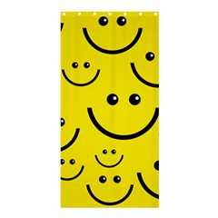 Digitally Created Yellow Happy Smile  Face Wallpaper Shower Curtain 36  X 72  (stall)  by BangZart