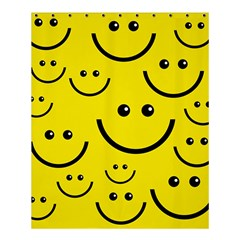 Digitally Created Yellow Happy Smile  Face Wallpaper Shower Curtain 60  X 72  (medium)  by BangZart