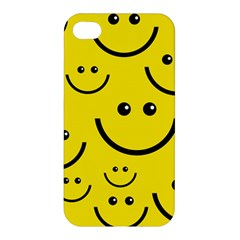 Digitally Created Yellow Happy Smile  Face Wallpaper Apple Iphone 4/4s Premium Hardshell Case
