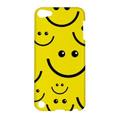 Digitally Created Yellow Happy Smile  Face Wallpaper Apple Ipod Touch 5 Hardshell Case by BangZart