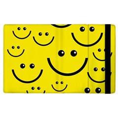 Digitally Created Yellow Happy Smile  Face Wallpaper Apple Ipad 3/4 Flip Case by BangZart