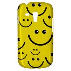 Digitally Created Yellow Happy Smile  Face Wallpaper Galaxy S3 Mini
