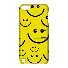 Digitally Created Yellow Happy Smile  Face Wallpaper Apple Ipod Touch 5 Hardshell Case With Stand