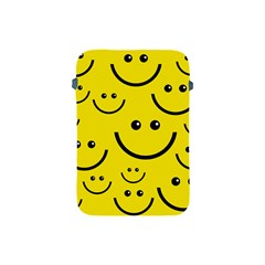 Digitally Created Yellow Happy Smile  Face Wallpaper Apple Ipad Mini Protective Soft Cases by BangZart