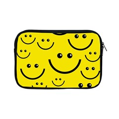Digitally Created Yellow Happy Smile  Face Wallpaper Apple Ipad Mini Zipper Cases