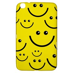 Digitally Created Yellow Happy Smile  Face Wallpaper Samsung Galaxy Tab 3 (8 ) T3100 Hardshell Case  by BangZart