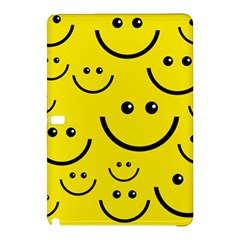 Digitally Created Yellow Happy Smile  Face Wallpaper Samsung Galaxy Tab Pro 12 2 Hardshell Case by BangZart