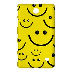 Digitally Created Yellow Happy Smile  Face Wallpaper Samsung Galaxy Tab 4 (7 ) Hardshell Case  by BangZart