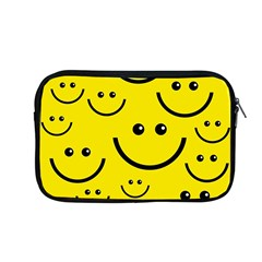 Digitally Created Yellow Happy Smile  Face Wallpaper Apple Macbook Pro 13  Zipper Case by BangZart