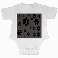 Dog Foodprint Paw Prints Seamless Background And Pattern Infant Creepers