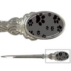 Dog Foodprint Paw Prints Seamless Background And Pattern Letter Openers