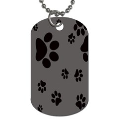 Dog Foodprint Paw Prints Seamless Background And Pattern Dog Tag (two Sides)