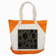 Dog Foodprint Paw Prints Seamless Background And Pattern Accent Tote Bag by BangZart