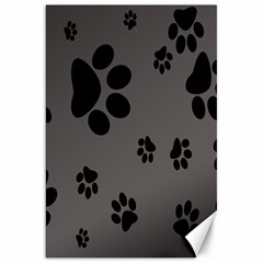 Dog Foodprint Paw Prints Seamless Background And Pattern Canvas 20  X 30