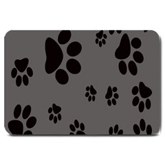 Dog Foodprint Paw Prints Seamless Background And Pattern Large Doormat  by BangZart