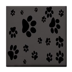 Dog Foodprint Paw Prints Seamless Background And Pattern Face Towel