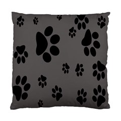 Dog Foodprint Paw Prints Seamless Background And Pattern Standard Cushion Case (two Sides)