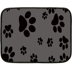 Dog Foodprint Paw Prints Seamless Background And Pattern Double Sided Fleece Blanket (mini)
