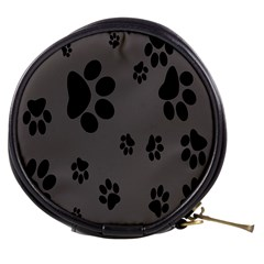 Dog Foodprint Paw Prints Seamless Background And Pattern Mini Makeup Bags by BangZart