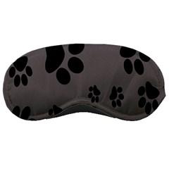 Dog Foodprint Paw Prints Seamless Background And Pattern Sleeping Masks