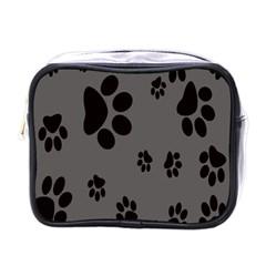 Dog Foodprint Paw Prints Seamless Background And Pattern Mini Toiletries Bags by BangZart