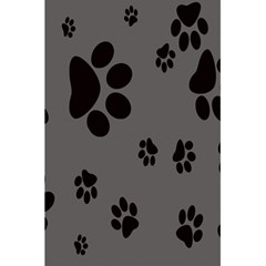 Dog Foodprint Paw Prints Seamless Background And Pattern 5 5  X 8 5  Notebooks by BangZart