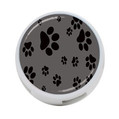 Dog Foodprint Paw Prints Seamless Background And Pattern 4 Port Usb Hub (two Sides)