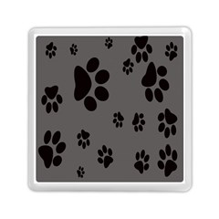 Dog Foodprint Paw Prints Seamless Background And Pattern Memory Card Reader (square)