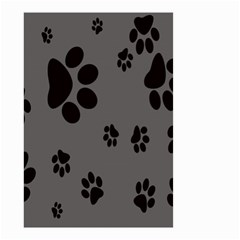 Dog Foodprint Paw Prints Seamless Background And Pattern Small Garden Flag (two Sides)