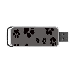 Dog Foodprint Paw Prints Seamless Background And Pattern Portable Usb Flash (two Sides) by BangZart