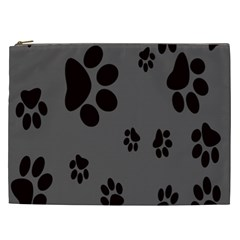 Dog Foodprint Paw Prints Seamless Background And Pattern Cosmetic Bag (xxl)  by BangZart