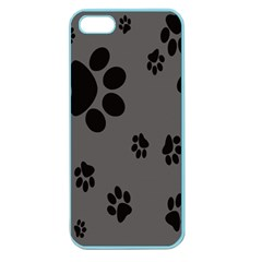 Dog Foodprint Paw Prints Seamless Background And Pattern Apple Seamless Iphone 5 Case (color)