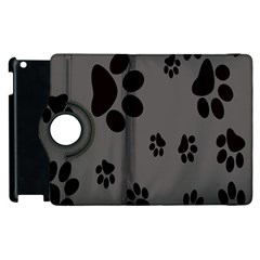 Dog Foodprint Paw Prints Seamless Background And Pattern Apple Ipad 2 Flip 360 Case by BangZart