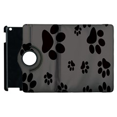 Dog Foodprint Paw Prints Seamless Background And Pattern Apple Ipad 3/4 Flip 360 Case