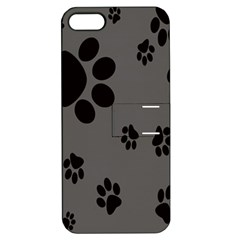 Dog Foodprint Paw Prints Seamless Background And Pattern Apple Iphone 5 Hardshell Case With Stand by BangZart