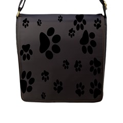 Dog Foodprint Paw Prints Seamless Background And Pattern Flap Messenger Bag (l)  by BangZart