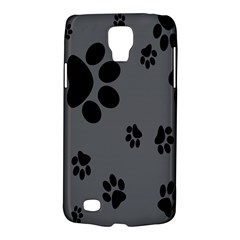 Dog Foodprint Paw Prints Seamless Background And Pattern Galaxy S4 Active by BangZart