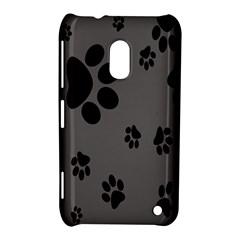 Dog Foodprint Paw Prints Seamless Background And Pattern Nokia Lumia 620 by BangZart
