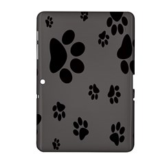 Dog Foodprint Paw Prints Seamless Background And Pattern Samsung Galaxy Tab 2 (10 1 ) P5100 Hardshell Case