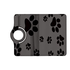 Dog Foodprint Paw Prints Seamless Background And Pattern Kindle Fire Hd (2013) Flip 360 Case by BangZart