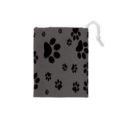 Dog Foodprint Paw Prints Seamless Background And Pattern Drawstring Pouches (small)