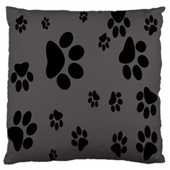 Dog Foodprint Paw Prints Seamless Background And Pattern Large Flano Cushion Case (one Side)