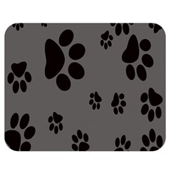 Dog Foodprint Paw Prints Seamless Background And Pattern Double Sided Flano Blanket (medium)  by BangZart