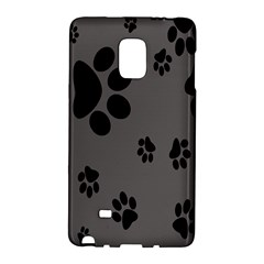 Dog Foodprint Paw Prints Seamless Background And Pattern Galaxy Note Edge by BangZart